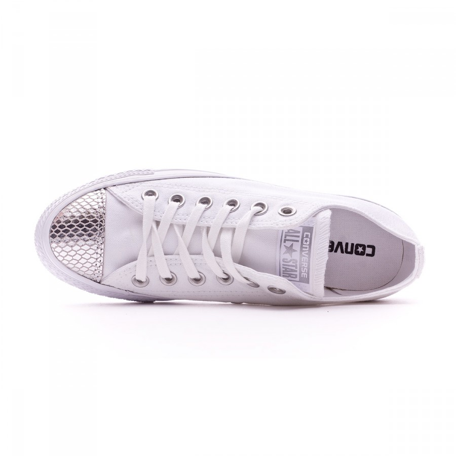 Trainers Converse Chuck Taylor All Star Metallic Toecap OX Mujer White- Silver-White - Soloporteros es ahora Fútbol Emotion 08abaf802