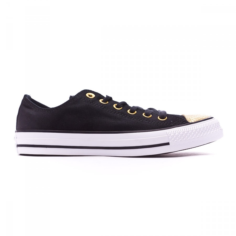 Zapatilla Chuck Taylor All Star Metallic Toecap OX Mujer Black-Gold-White Talla 5 USA u4vGob1eLL