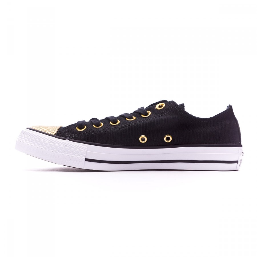 8e1ddce7d Trainers Converse Chuck Taylor All Star Metallic Toecap OX Mujer  Black-Gold-White - Football store Fútbol Emotion
