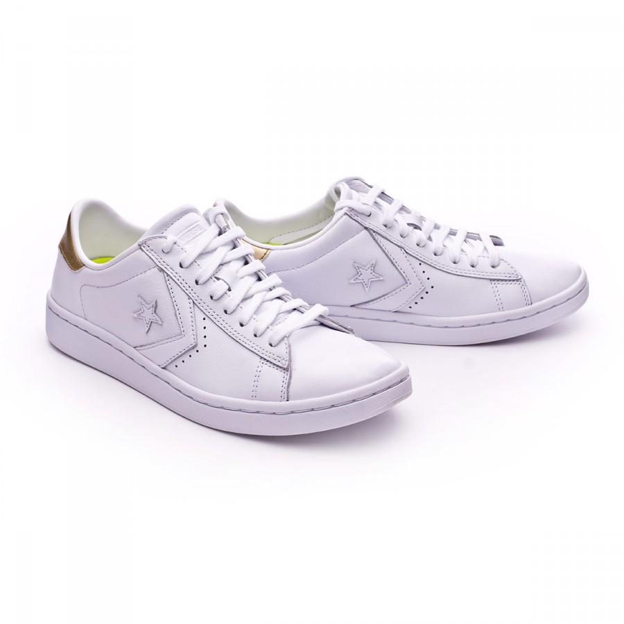 3aef882801e8 Trainers Converse PL LP OX Mujer White-Light gold-White - Tienda de ...