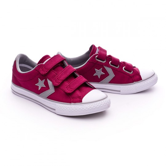 Sapatilha  Converse Jr Star Player 3V OX Rhubarb-Dolphin-White