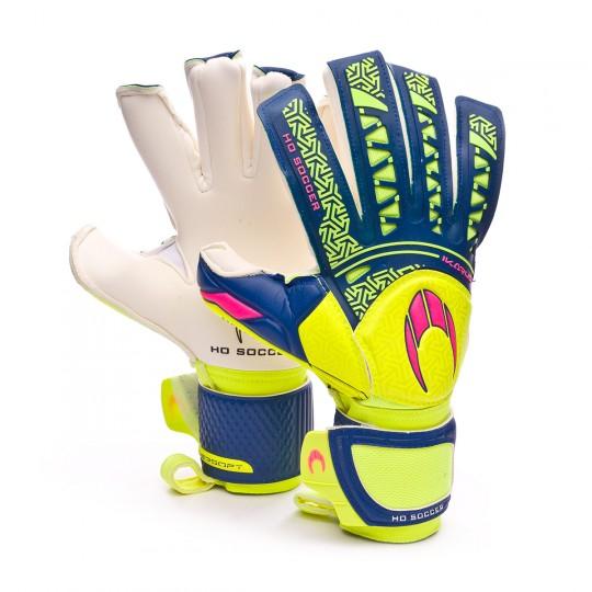 Guante  HO Soccer SSG Ikarus Roll-Negative Volt-Green-Pink