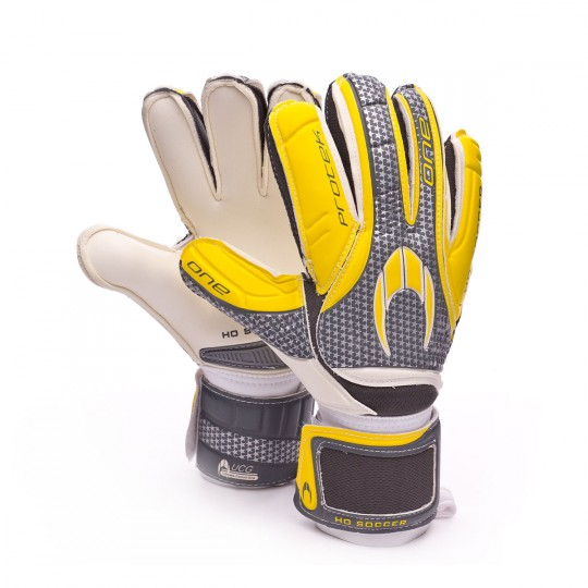 Luvas  HO Soccer One Protek Flat (UCG) Black-Grey-Yellow