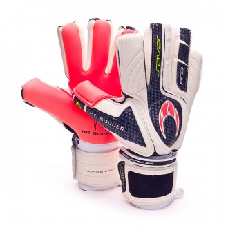 Guante  HO Soccer Pro Saver Negative (WARNING SUPRA GRIP) White-Blue-Orange