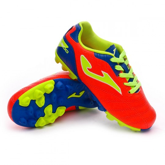Chaussure  Joma jr Toledo Orange-Blue-Volt