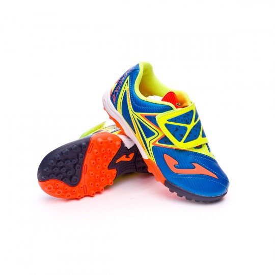 Zapatilla  Joma jr Champion Turf Blue-Volt-Orange