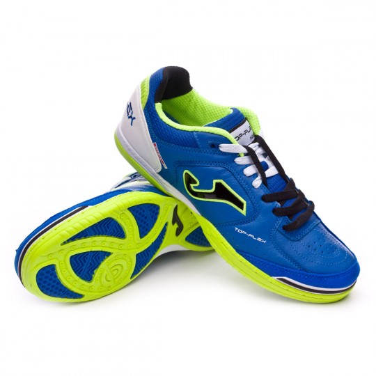 Zapatilla de fútbol sala  Joma Top Flex Blue-Black-Green