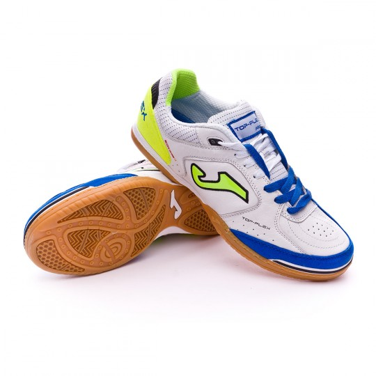 Zapatilla de fútbol sala  Joma Top Flex White-Blue-Green