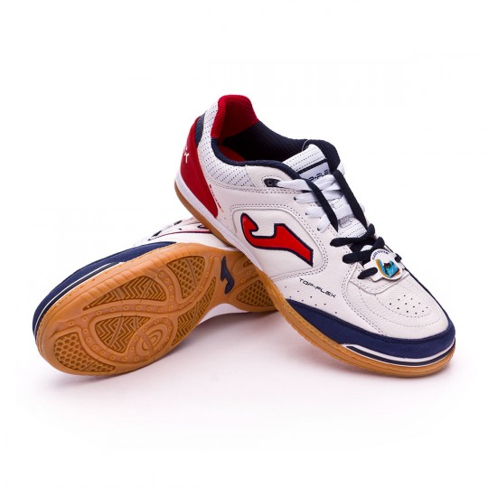 Zapatilla de fútbol sala  Joma Top Flex White-Navy-Red