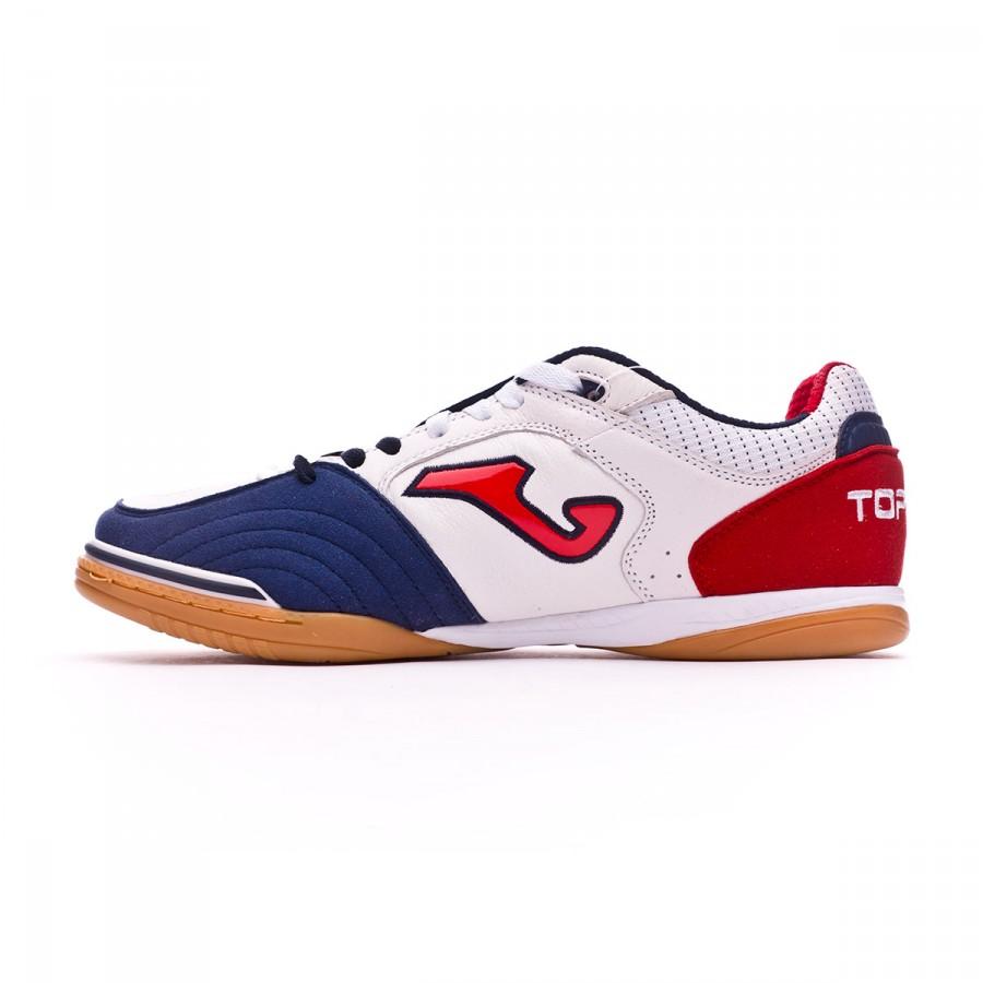 Zapatilla Joma Top Flex White-Navy-Red - Soloporteros es ahora Fútbol  Emotion fe3a6789331d7