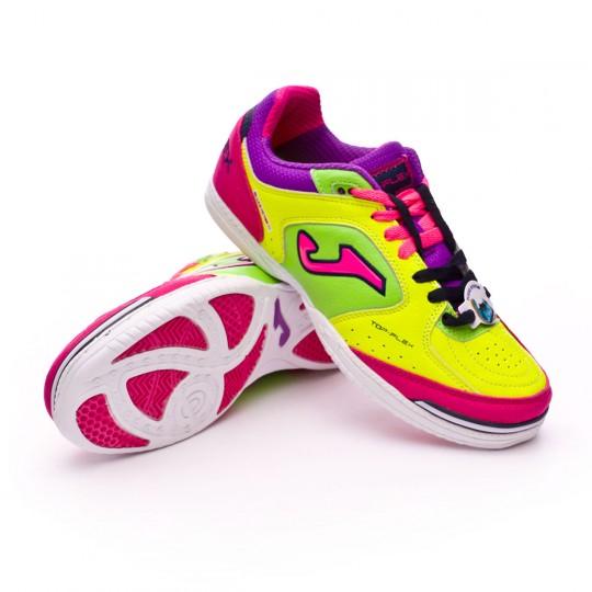 Sapatilha de Futsal  Joma Top Flex Volt-Green-Pink
