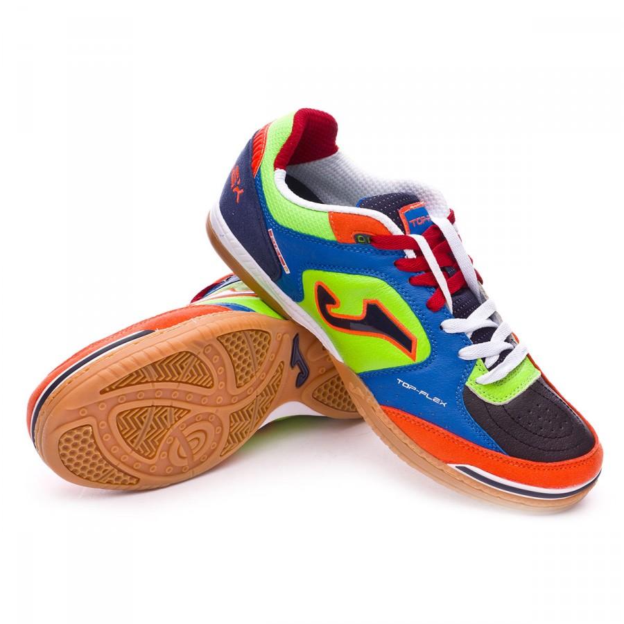 7781cc180e3 Futsal Boot Joma Top Flex Blue-Black-Green-Red - Tienda de fútbol ...