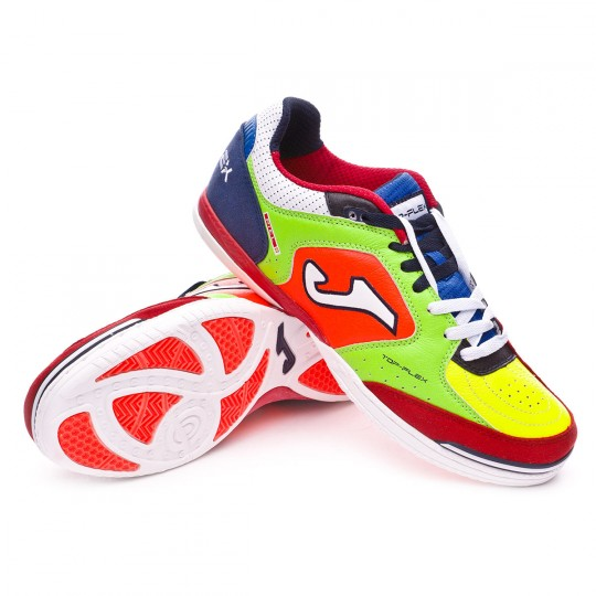Zapatilla de fútbol sala  Joma Top Flex Volt-Green-Orange-Black