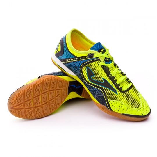 Sapatilha de Futsal  Joma Evo Flex Green-Blue