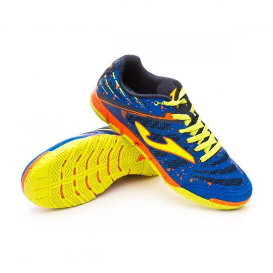 Zapatilla de fútbol sala  Joma Super Regate Blue-Volt-Orange