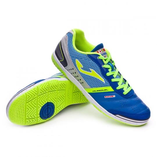 Chaussure de futsal  Joma Mundial Blue-Grey-Green