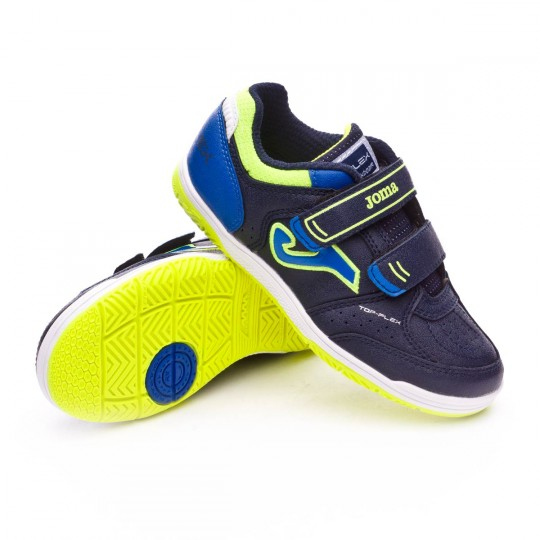 Zapatilla de fútbol sala  Joma jr Top Flex Navy-Blue-Green
