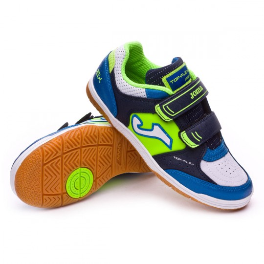 Zapatilla de fútbol sala  Joma jr Top Flex Blue-Green