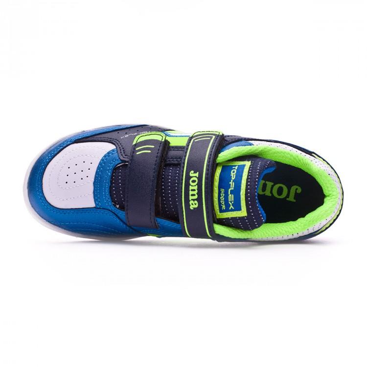 78ba19dcd123f Zapatilla Joma Top Flex Niño Blue-Green - Leaked soccer