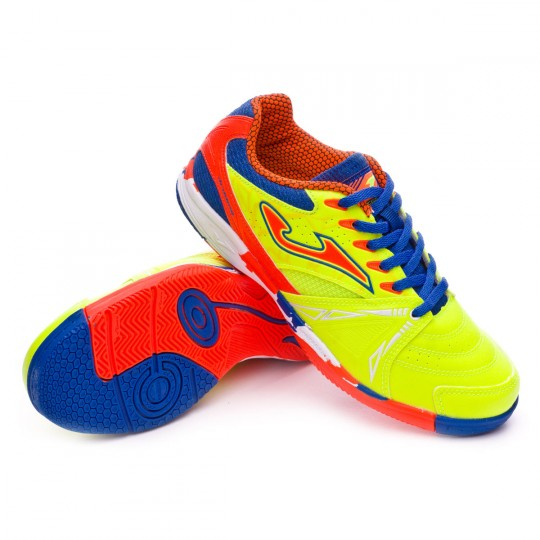 Zapatilla de fútbol sala  Joma jr Dribling Volt-Orange-Blue
