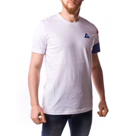 Camiseta  Le coq sportif Tri SP BBR Cottontech Optical white