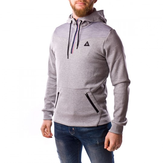Sudadera  Le coq sportif Hoodie STA SP Cottontech Light heather grey