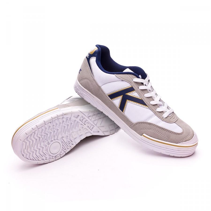 2aa0e78d00f Futsal Boot Kelme Trueno Sala White-Blue - Football store Fútbol Emotion
