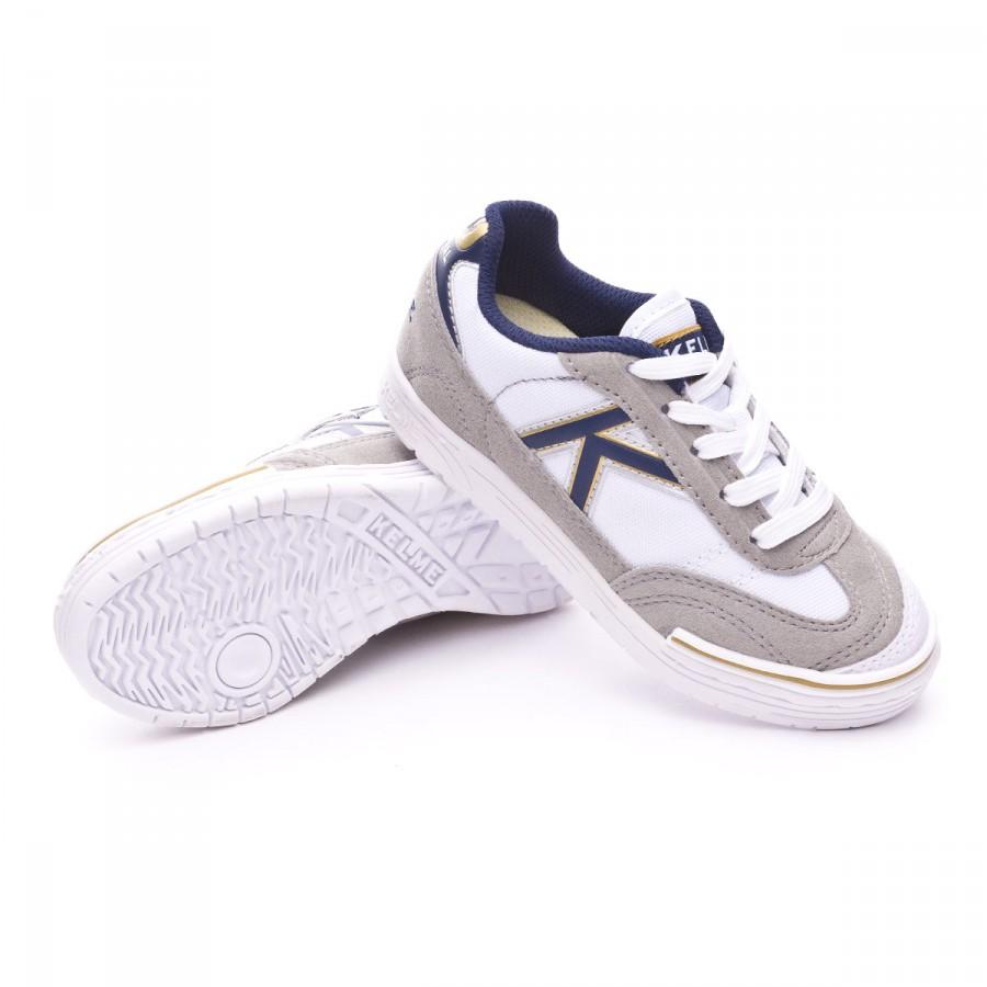 f89effbe3c8 Futsal Boot Kelme Kids Trueno Sala Kids White-Blue - Football store ...