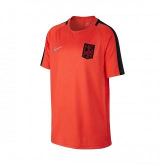 Camiseta  Nike Dry Neymar Niño Max orange-Black-Metallic silver