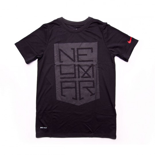 Camiseta  Nike jr Dry Neymar Jr Logo Black-Anthracite