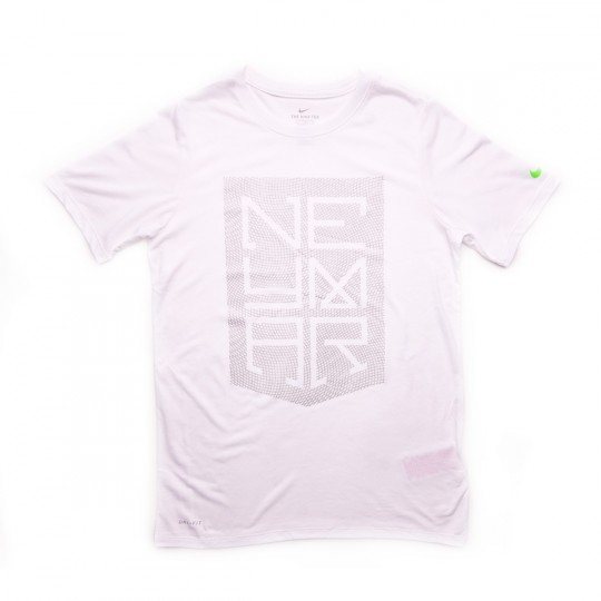 Camiseta  Nike jr Dry Neymar Jr Logo White-Metallic silver