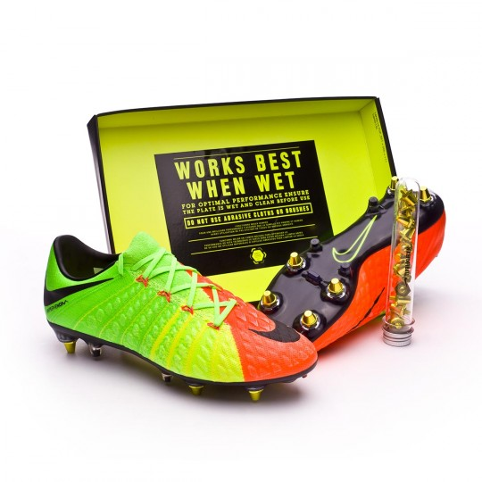 Scarpa  Nike Hypervenom Phantom III ACC SG-Pro Anti-Clog Electric green-Black-Hyper orange-Volt