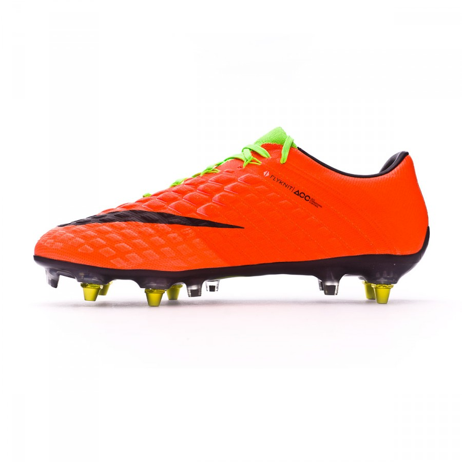 bccf1756e419 Football Boots Nike Hypervenom Phantom III ACC SG-Pro Anti-Clog Electric  green-Black-Hyper orange-Volt - Tienda de fútbol Fútbol Emotion
