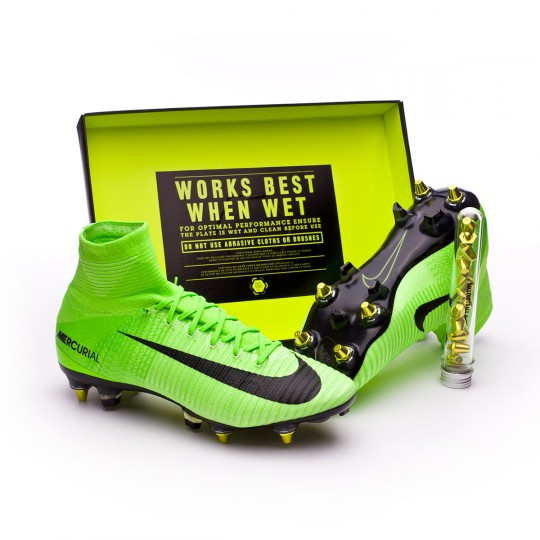 Scarpa  Nike Mercurial Superfly V ACC SG-Pro Anti-Clog Electric green-Black-Ghost green-White