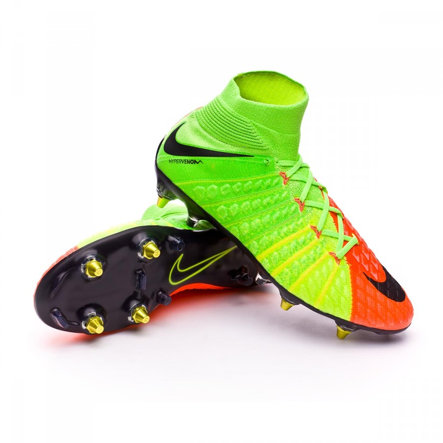 Boot Nike Hypervenom Phantom III ACC DF SG-Pro Anti-Clog Electric  green-Black-Hyper orange-Volt - Soloporteros es ahora Fútbol Emotion 7dfa0dc32839