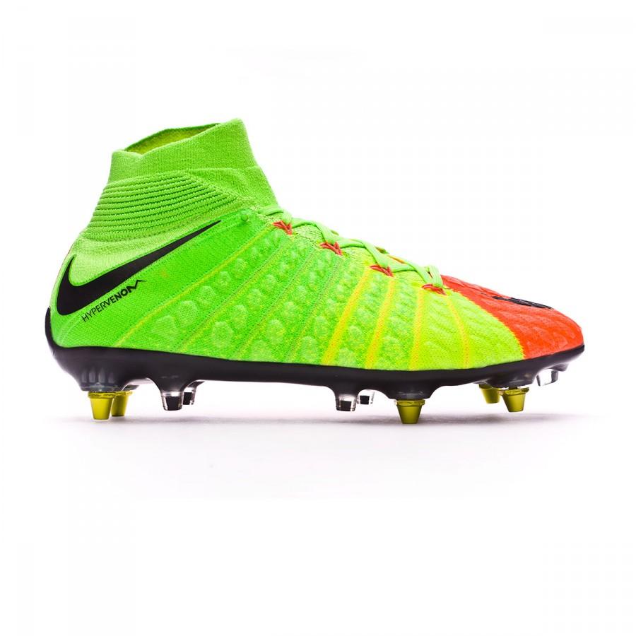 312aa400d Chaussure de foot Nike Hypervenom Phantom III ACC DF SG-Pro Anti-Clog  Electric green-Black-Hyper orange-Volt - Boutique de football Fútbol Emotion
