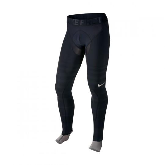 Malla  Nike Pro Hyperrecovery Tight Black-Metallic pewter