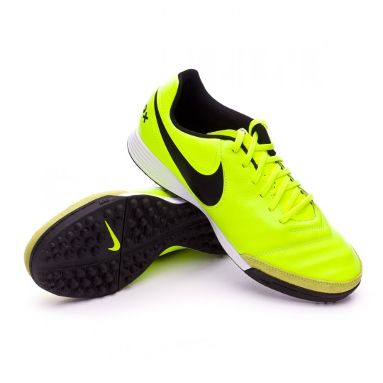 32ea92a6e113f Football Boot Nike TiempoX Genio Leather II Turf Volt-Black-Volt - Football  store Fútbol Emotion