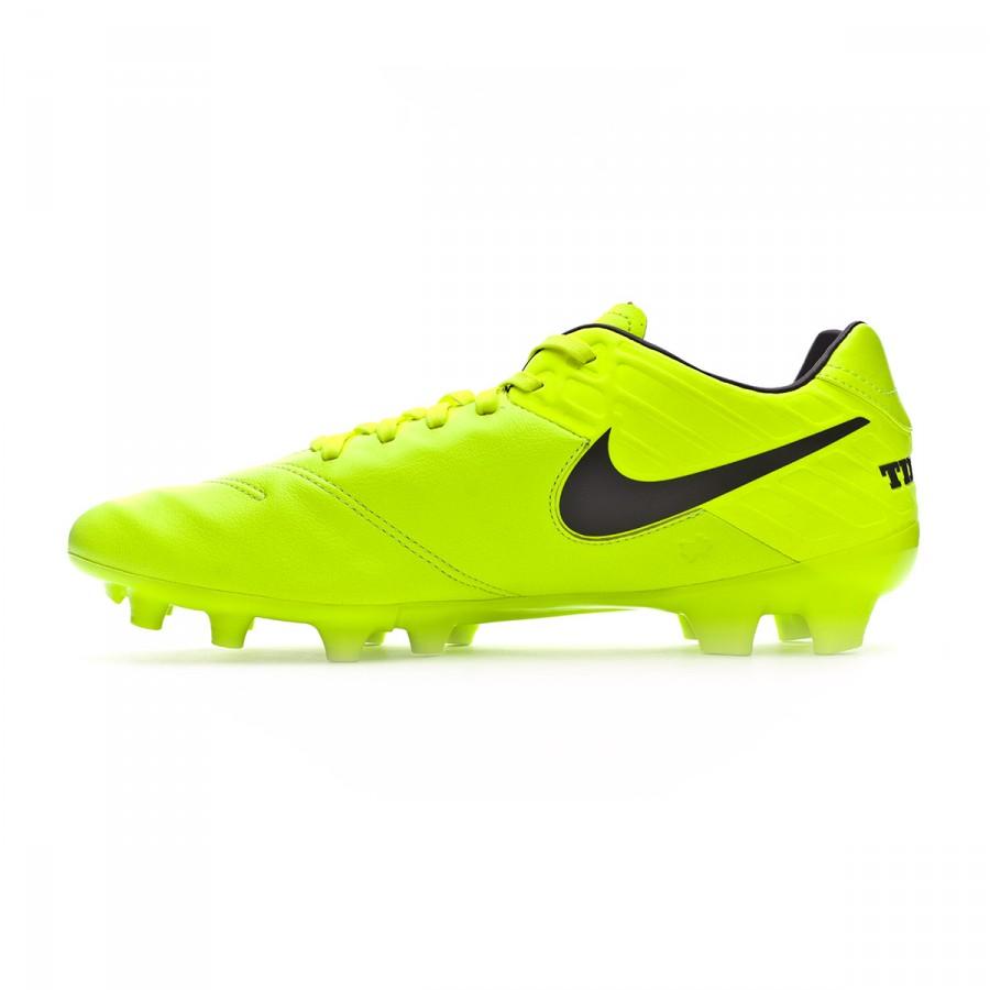 quality design bc357 27caf Football Boots Nike Tiempo Mystic V FG Volt-Black-Volt - Football store  Fútbol Emotion