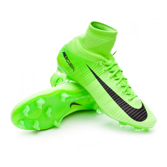 Chaussure  Nike Mercurial Superfly V ACC FG Electric green-Black-Ghost green-White