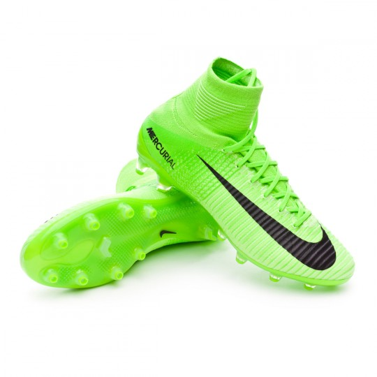 Chuteira  Nike Mercurial Superfly V ACC AG-Pro Electric green-Black-Ghost green-White