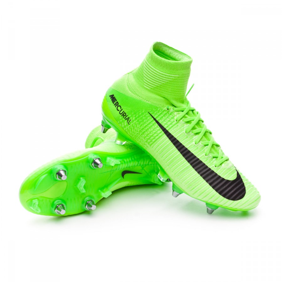 e0d2b5a97081e Football Boots Nike Mercurial Superfly V ACC SG-Pro Electric green ...