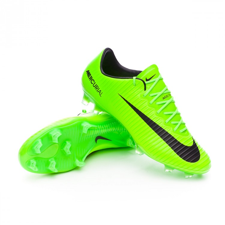 the latest a061e b2d60 Football Boots Nike Mercurial Vapor XI ACC FG Electric green-Black ...