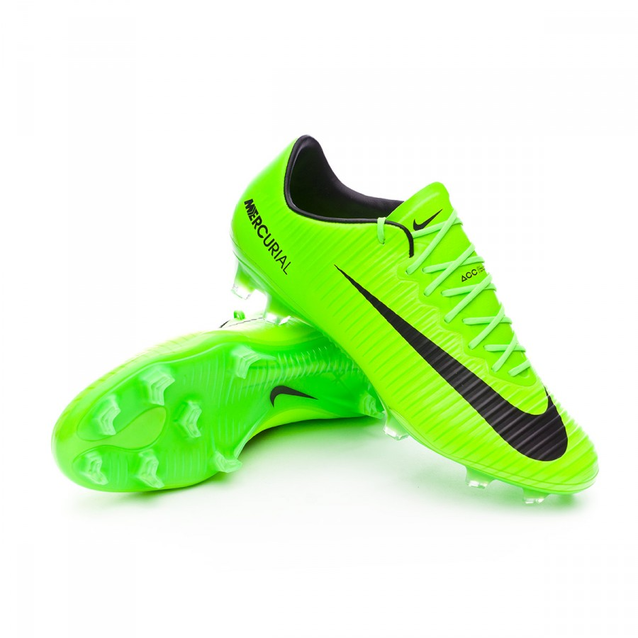 Cheap Nike Soccer Shoes Nike Mercurial Vapor XI FG Electric Green Black Flash Line