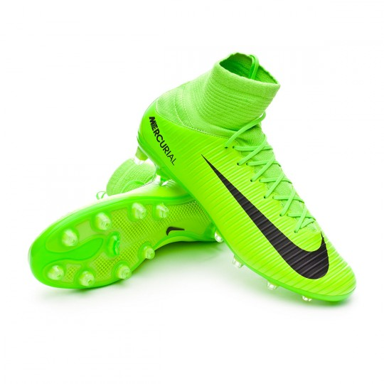 Chuteira  Nike Mercurial Veloce III DF AG-Pro Electric green-Black-Flash lime-White