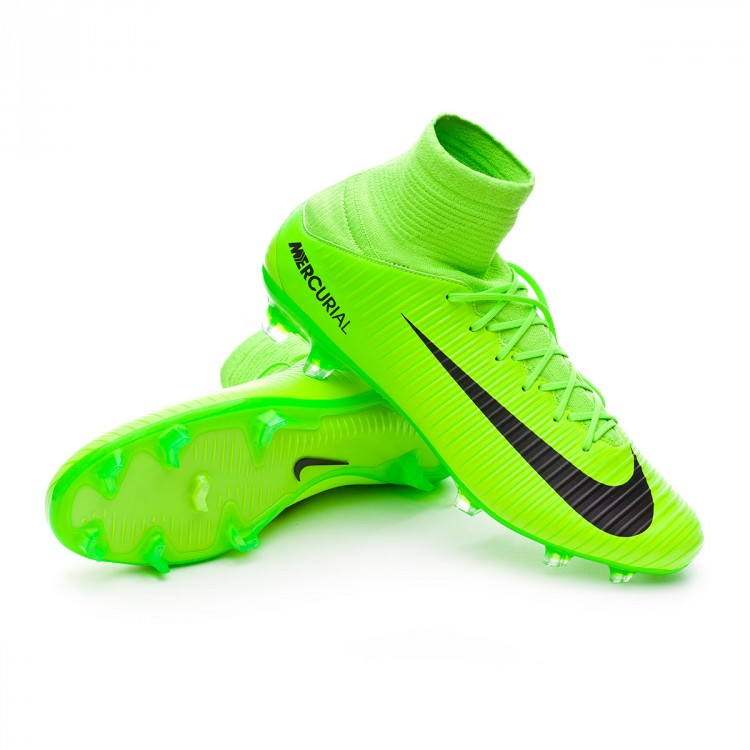 40f09b3e9f7 Football Boots Nike Mercurial Veloce III DF FG Electric green-Black ...