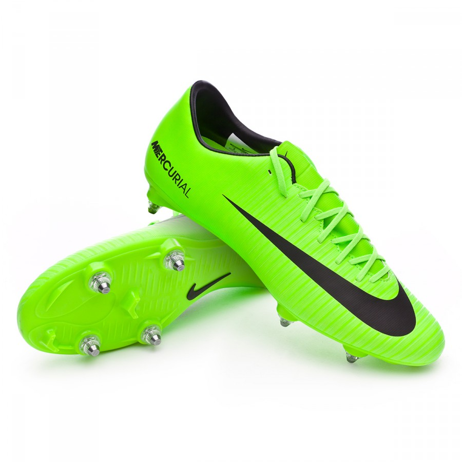5c170e2d3 Nike Mercurial Victory VI SG Football Boots. Electric green-Black-Flash ...
