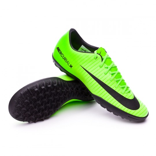 Zapatilla de fútbol sala  Nike MercurialX Victory VI Turf Electric green-Black-Flash lime-White