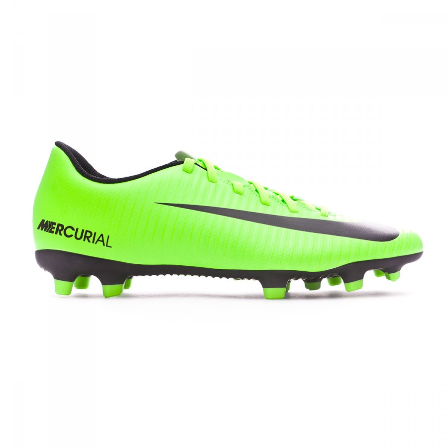 Chuteira Nike Mercurial Vortex III FG Electric green-Black-Flash lime-White  - Loja de futebol Fútbol Emotion 39bf2222edc0c