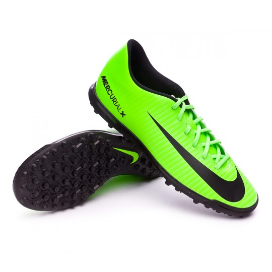 Zapatilla de fútbol sala  Nike MercurialX Vortex III Turf Electric green-Black-Flash lime-White